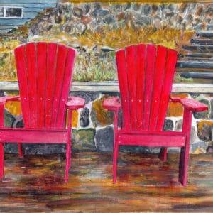 Muskoka Chairs Early Spring