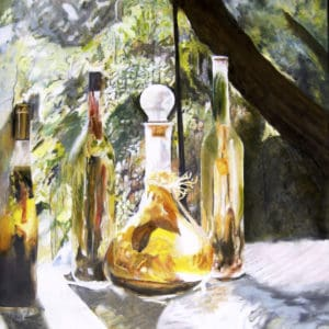 Sunlit Oil Bottles 2019