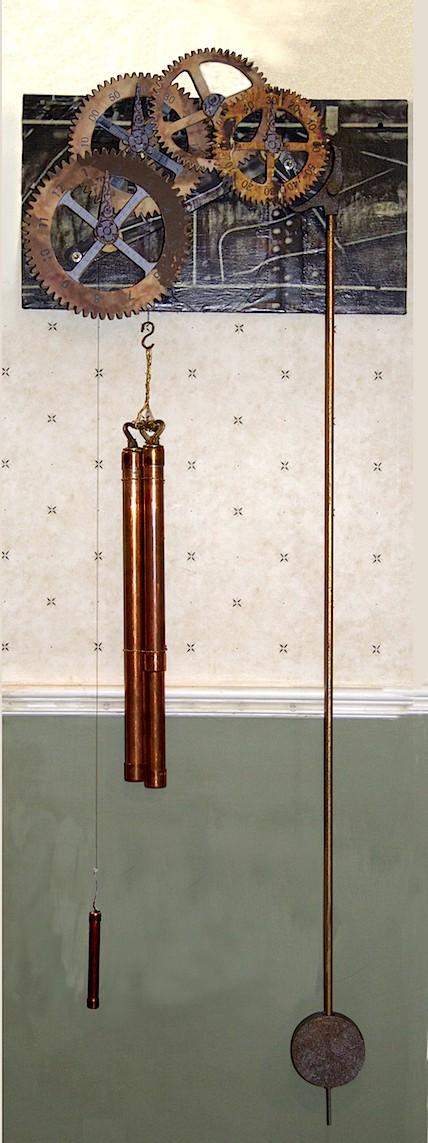 Steampunk Wooden Gear Clock