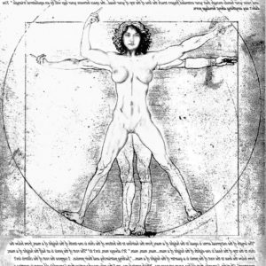 The Vitruvius' Woman in Divine Proportion, by Evelyn